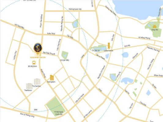 Location of Sunshine Center - 'Golden' position, thousands advantages