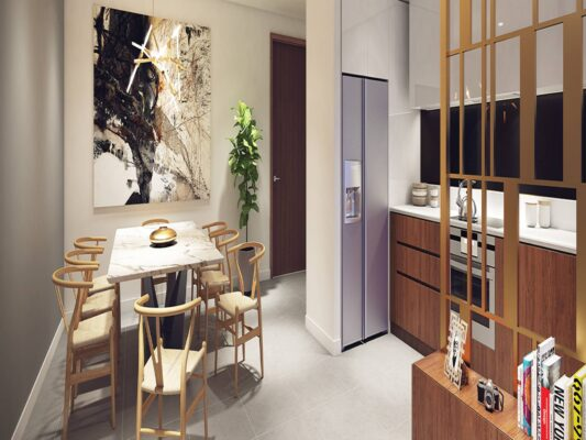 The design of the apartment Kosmo Tay Ho (3)