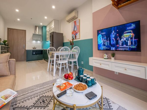 Sweet apartment for rent in Vinhomes Smart City Diamond (1)